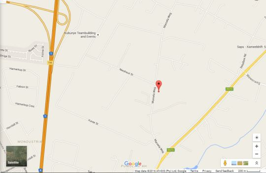 Map Villa Stoney B&B in Kameeldrift East  Pretoria East  Pretoria / Tshwane  Gauteng  South Africa