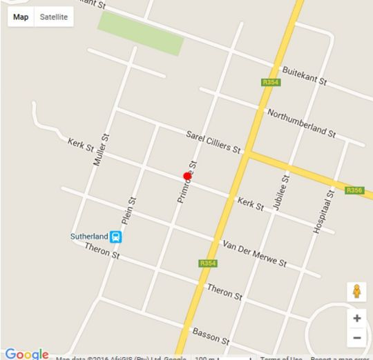 Map Blue Moon in Sutherland  Hantam Karoo  Northern Cape  South Africa