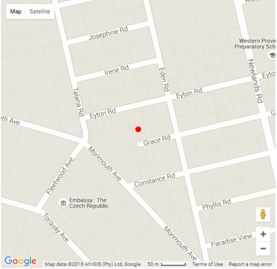 Map Thirty On Grace in Claremont  Southern Suburbs (CPT)  Cape Town  Western Cape  South Africa