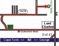 Map Villa Tara in Somerset West  Helderberg  Western Cape  South Africa