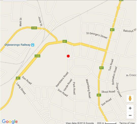 Map C\'est Si Bon Hotel in Otjiwarongo  Otjozondijupa  Namibia