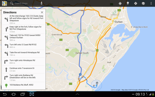 Map Krivara Guesthouse in Bluff  Durban  Durban and Surrounds  KwaZulu Natal  South Africa