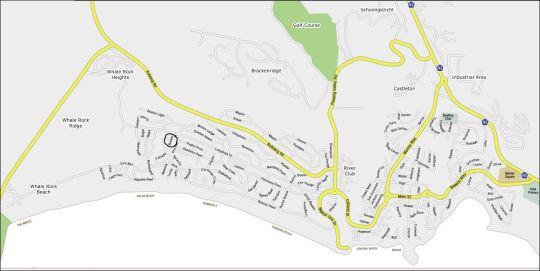 Map Villa Bunker in Plettenberg Bay  Garden Route  Western Cape  South Africa