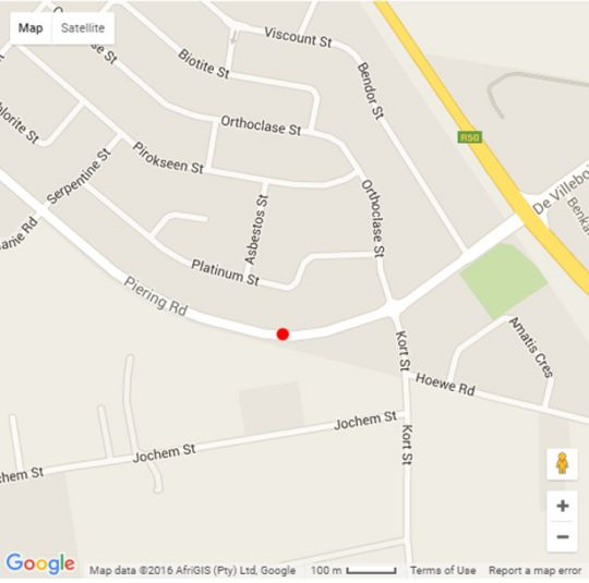 Map Andantelodge in Rietvalleirand  Pretoria East  Pretoria / Tshwane  Gauteng  South Africa