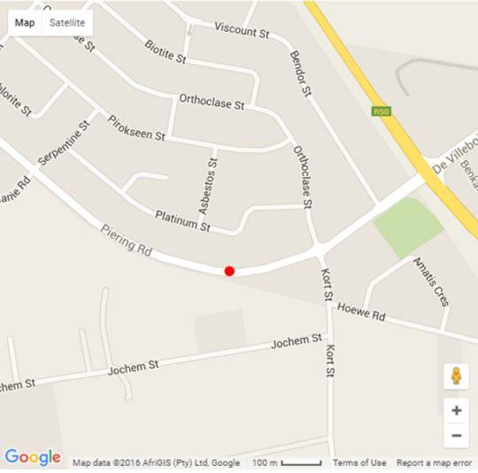 Map Andantelodge in Rietvalleirand  Pretoria East  Pretoria / Tshwane  Gauteng  South Africa