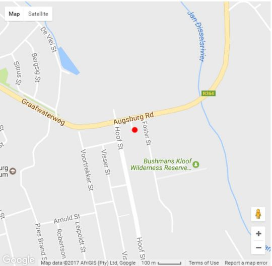 Map Elephant River Guest House in Clanwilliam  West Coast (WC)  Western Cape  South Africa