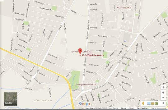 Map The Willow Tree Guest House in Klerksdorp  Southern (NW)  North West  South Africa