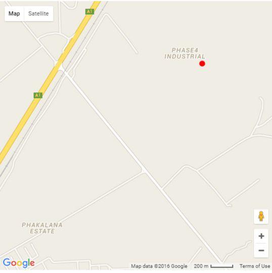 Map Peter\'s Place - Botswana in Gaborone  Botswana