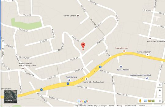 Map Agnar 6 Modern & Well Situated in Knysna  Garden Route  Western Cape  South Africa