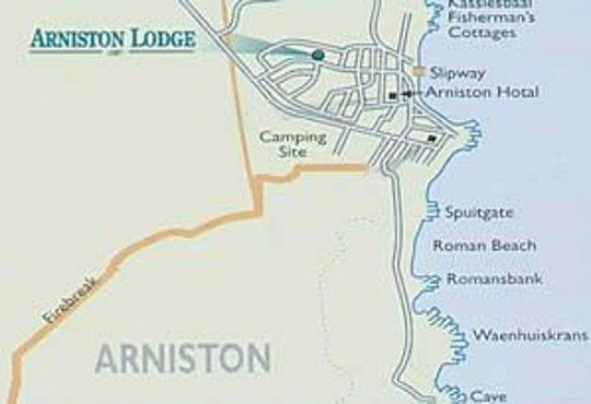 Map Arniston Lodge in Arniston  Overberg  Western Cape  South Africa
