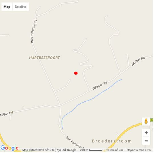 Map Dagbreek Country Stay in Hartbeespoort  Bojanala  North West  South Africa