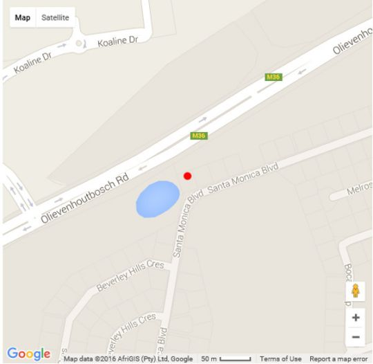 Map 57 Santa Monica Blvd in Irene  Centurion  Pretoria / Tshwane  Gauteng  South Africa