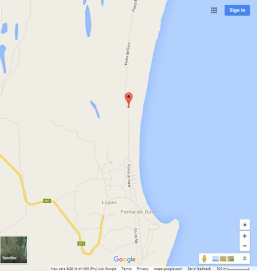 Map Dream Beach Lodge in Ponta d'Ouro  Maputo  Mozambique