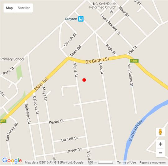 Map The Old Cottage in Greyton  Overberg  Western Cape  South Africa