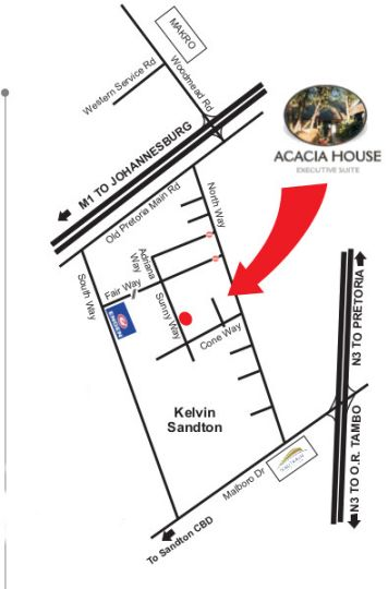 Map Acacia House Executive Suite in Kelvin  Sandton  Johannesburg  Gauteng  South Africa