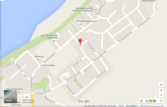 Map Vasbyt Loft in Paternoster  West Coast (WC)  Western Cape  South Africa