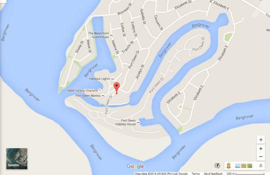 Map Pelican House in Velddrif  West Coast (WC)  Western Cape  South Africa