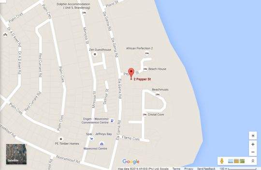 Map Surf Inn @ Supers in Jeffreys Bay  Cacadu (Sarah Baartman)  Eastern Cape  South Africa