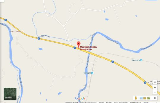 Map Mbombela Holiday Resort & Spa in Nelspruit  Lowveld  Mpumalanga  South Africa
