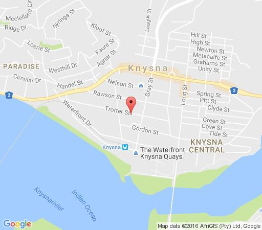 Map 15 Seahorse - Knysna in Knysna  Garden Route  Western Cape  South Africa