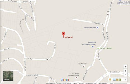 Map Morningside Village in Morningside (DBN)  Durban  Durban and Surrounds  KwaZulu Natal  Südafrika