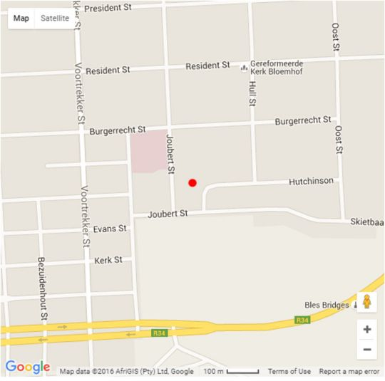 Map Sleepers Guest Lodge in Bloemhof  Southern (NW)  North West  South Africa