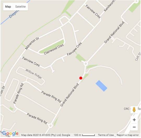 Map 109 Nottingham Square in Milnerton  Blaauwberg  Cape Town  Western Cape  South Africa