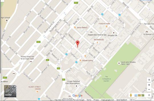 Map 907 FlatRock in Cape Town CBD  City Bowl  Cape Town  Western Cape  South Africa