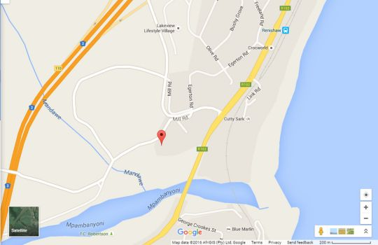 Map Sea Glass Guest House in Scottburgh  South Coast (KZN)  KwaZulu Natal  South Africa