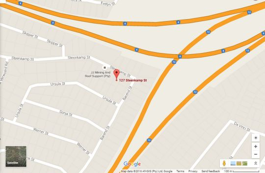 Map Stone Villa Guesthouse  in Witbank  Heartland  Mpumalanga  South Africa