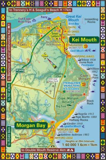 Map Wild Coast Horse Trails in Kei Mouth  Kei River  Eastern Cape  South Africa