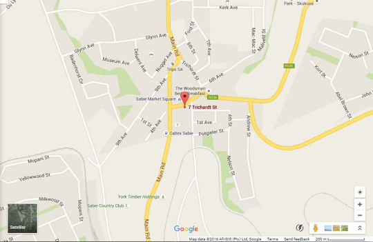 Map Sabie Retreats Guest House in Sabie  The Panorama  Mpumalanga  South Africa