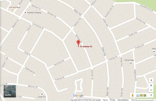 Map Seagulls Haven Top Floor Unit in Struisbaai  Overberg  Western Cape  South Africa