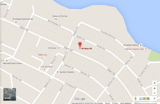 Map Seagulls Nest Top Floor Unit in Struisbaai  Overberg  Western Cape  South Africa