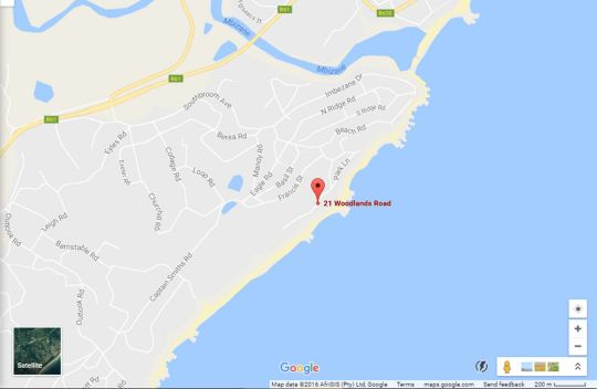 Map 21 Woodlands Rd, Southbroom in Southbroom  South Coast (KZN)  KwaZulu Natal  South Africa
