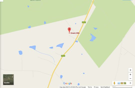 Map Dream Hills in Polokwane  Capricorn  Limpopo  South Africa