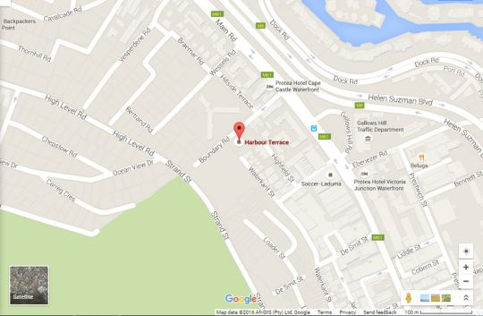Map Harbour Terrace 48  in De Waterkant  City Bowl  Cape Town  Western Cape  South Africa