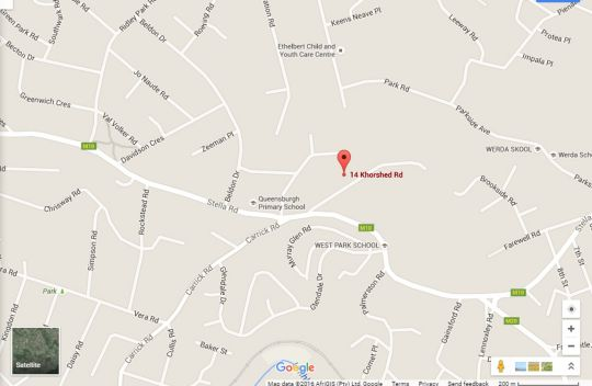 Map Lily\'s Cottage Durban West in Queensburgh  Southern Suburbs (DBN)  Durban and Surrounds  KwaZulu Natal  Afrique du Sud