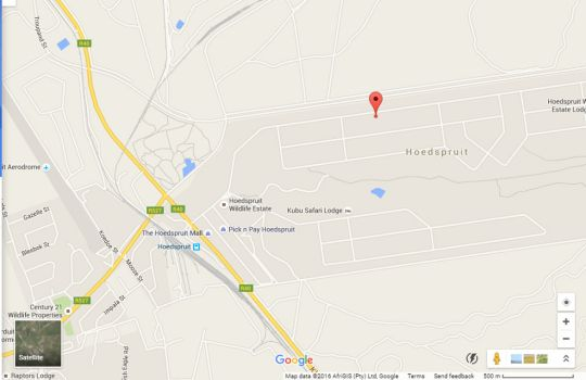 Map Bohemian Bushveld Retreat in Hoedspruit  Valley of the Olifants  Limpopo  South Africa