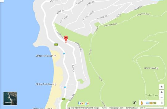 Map Clifton Athena in Camps Bay  Atlantic Seaboard  Cape Town  Western Cape  South Africa