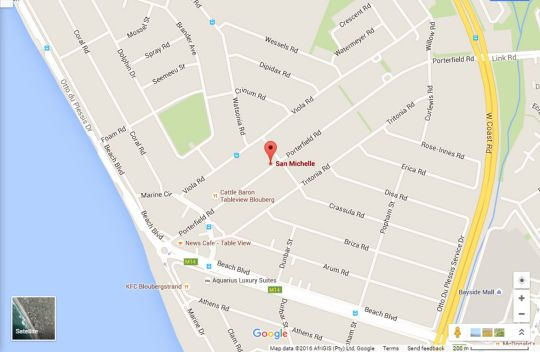 Map 11 San Michelle in Bloubergstrand  Blaauwberg  Cape Town  Western Cape  South Africa