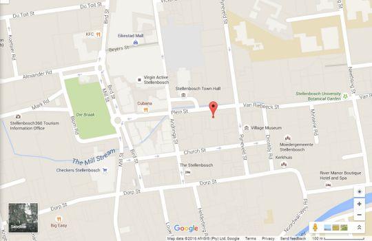 Map Maison d\'Bosch in Stellenbosch  Cape Winelands  Western Cape  South Africa
