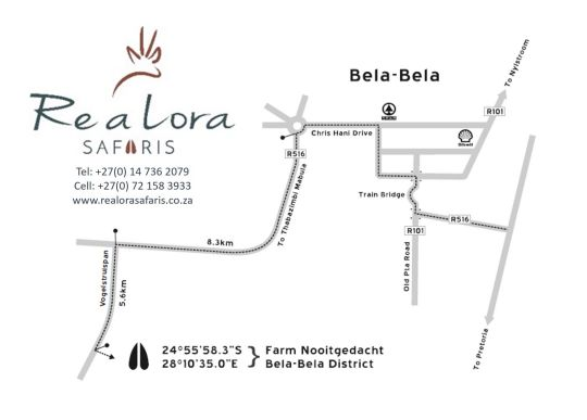 Map Re a Lora Lodge in Bela Bela  Bushveld  Limpopo  South Africa