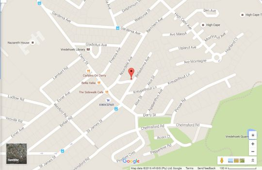 Map 20B Bella Donna in Vredehoek  City Bowl  Cape Town  Western Cape  South Africa