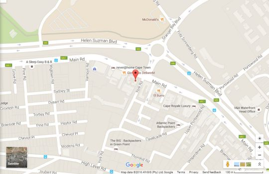 Map 22 York Mews in Green Point  Atlantic Seaboard  Cape Town  Western Cape  South Africa