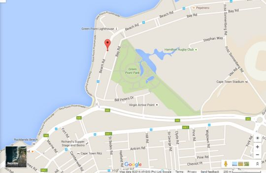 Map Rhodora 31  in Mouille Point  Atlantic Seaboard  Cape Town  Western Cape  South Africa