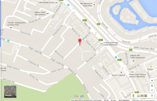 Map Hillside Heights 503  in Green Point  Atlantic Seaboard  Cape Town  Western Cape  South Africa