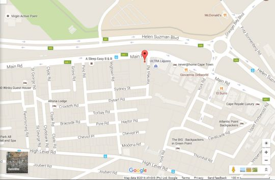 Map 503 Morokani in Green Point  Atlantic Seaboard  Cape Town  Western Cape  South Africa
