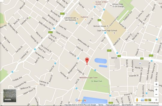 Map Albany Court P4 in Gardens  City Bowl  Kapstadt  Western Cape  Südafrika