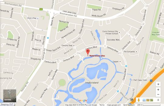 Map J101 Waterstone  in Century City  Blaauwberg  Cape Town  Western Cape  South Africa